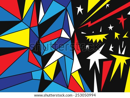 face - abstract fantastic background with triangles  - stock vector