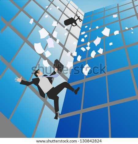 falling of  business man vector background - stock vector