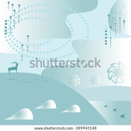 Fantasy Landscape - stock vector