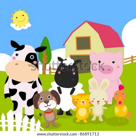 farm animal - stock vector
