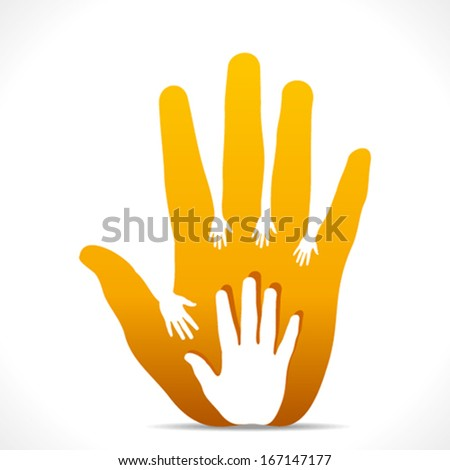 father hand with children hand background vector