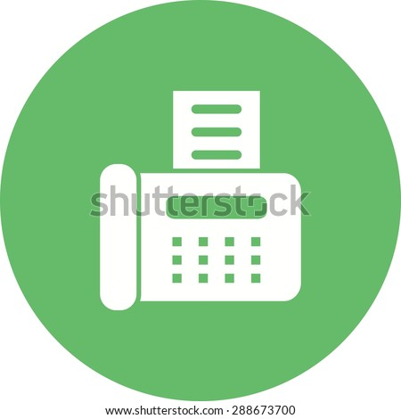 Fax machine, reciept, telephone, icon vector image.Can also be used for banking, finance, business. Suitable for web apps, mobile apps and print media. - stock vector