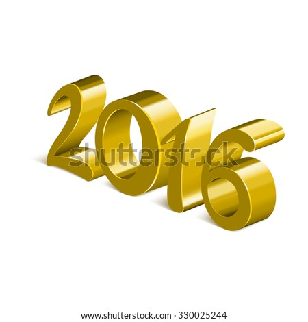 2016 figures of yellow color on a white background