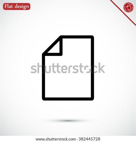file vector icon 10 EPS - stock vector