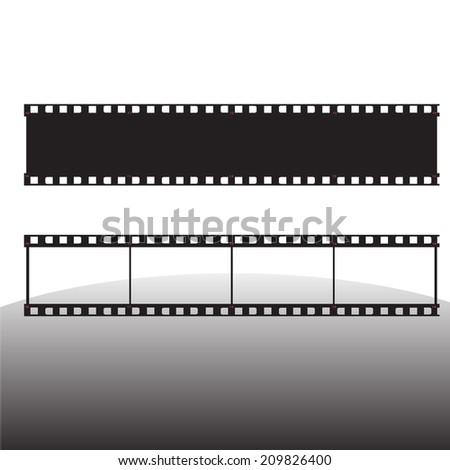film strip vector illustration - stock vector