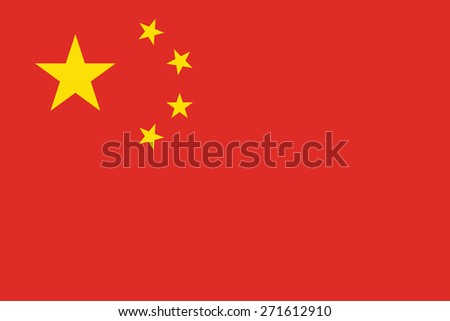 Flag of China  - stock vector
