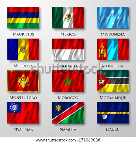 Flags. - stock vector