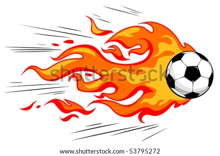Flamy soccer ball - stock vector
