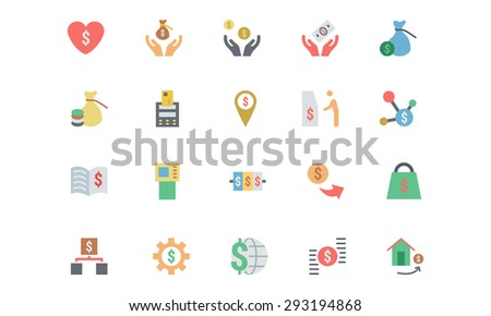 Flat Card Payment Vector Icons 6  - stock vector
