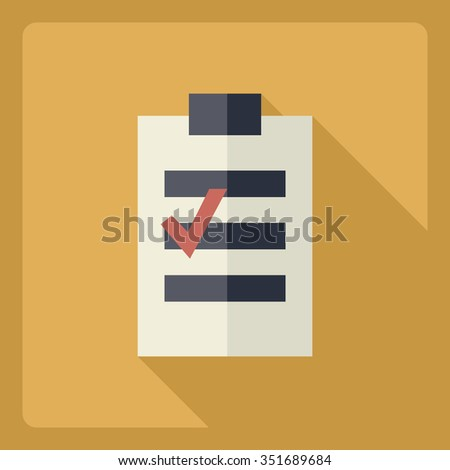 Flat modern design with shadow  Icon notebook - stock vector