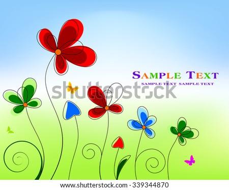 Floral background design  - stock vector