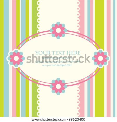 floral card.vector illustration - stock vector