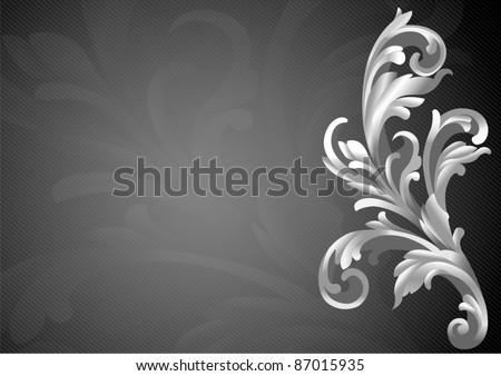 Floral Vintage Style vector illustration design elements . Vector illustration. - stock vector