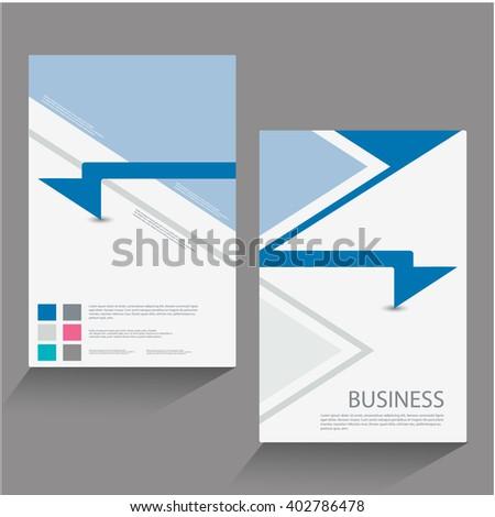 flyer, brochure. Design layout template - stock vector