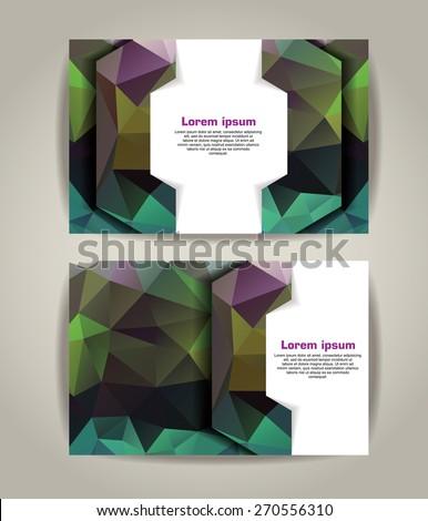 Flyer, Brochure Design Templates. Geometric Triangular Abstract Modern Backgrounds. - stock vector
