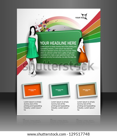 flyer design content background. - stock vector