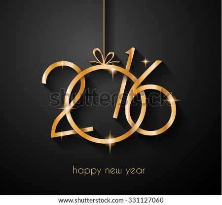 2016 flyer for Happy New Year Background or for your  Christmas menu templates and Greetings Card. Ideal to use for parties invitation, Dinner invitation, Christmas Meeting events and so on. - stock vector