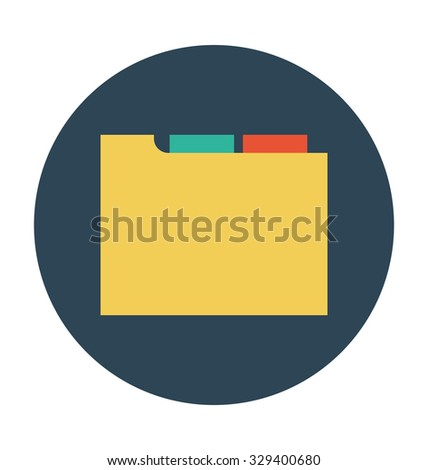 Folder Colored Vector Illustration  - stock vector