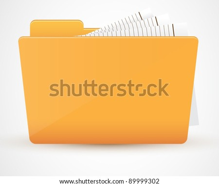 Folder icon. Vector illustration - stock vector