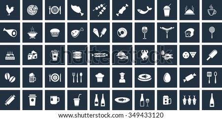 Food Icons Set. Eps-10. - stock vector