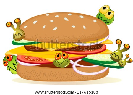 Food poisoning - stock vector