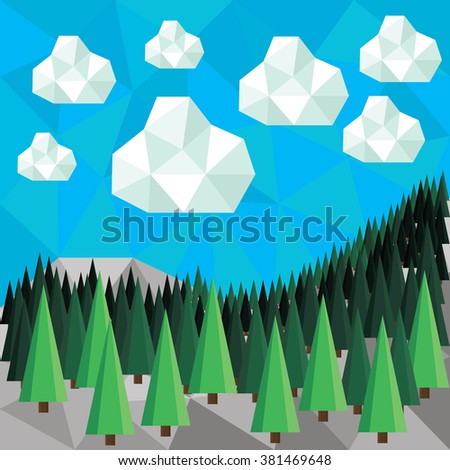 forest nature polygonal