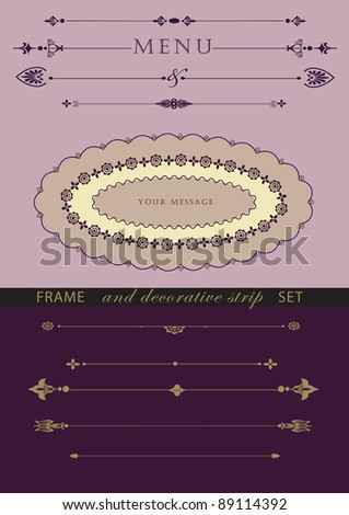 frame and page decoration vector set