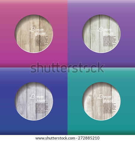 frame on wood background - stock vector