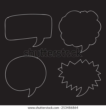Free Vector Hand drawn bubbles speech