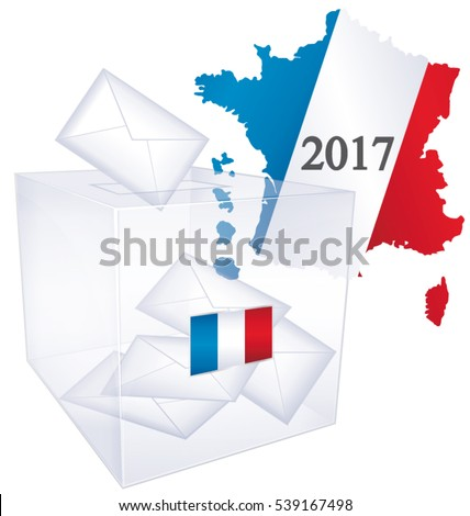 2017 French elections. Political vector vote issue icon.