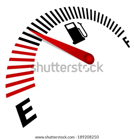 fuel meter over white background