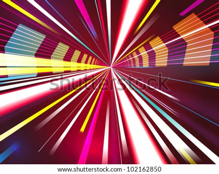 futuristic zoom background - stock vector