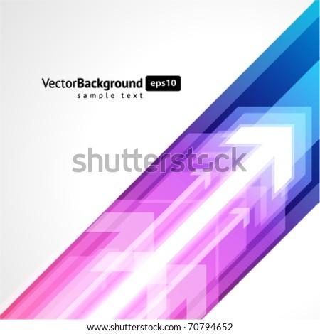 3g graph arrows move up vector background - stock vector