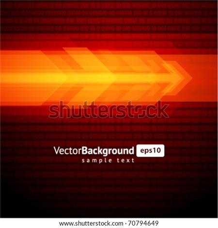 3g graph arrows move vector background - stock vector