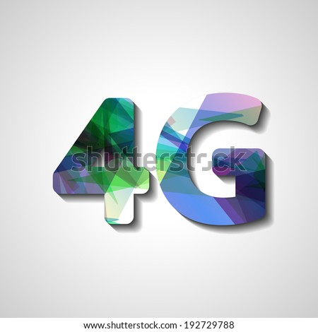4G latest wireless communication, abstract symbol - stock vector