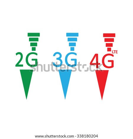 4G Mobile technology presentation - stock vector