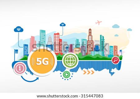 5G sign icon. Mobile telecommunications technology sign. 5G design for the  advertising, print, banner.