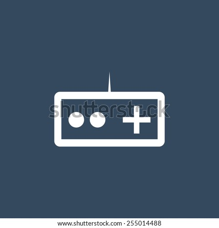 Gamepad flat icon. Modern flat icon for Web and Mobile Application. EPS 10.  - stock vector