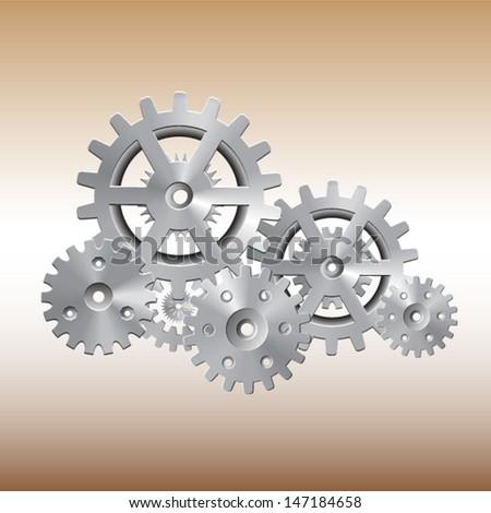 gear wheels system - stock vector