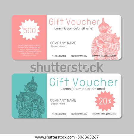Voucher Template Images RoyaltyFree Images Vectors – Voucher Template