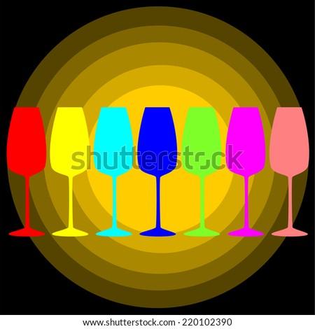 glass color.vectors - stock vector
