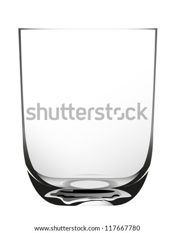 glass on a white background - stock vector