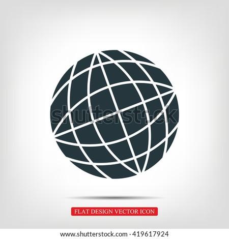 Globe earth icon - stock vector
