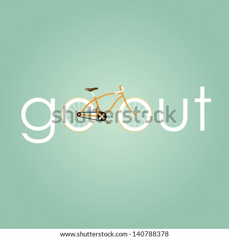 Go out with bicycle retro style. - stock vector