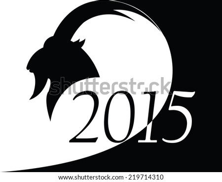 goat as symbol 2015 year - stock vector