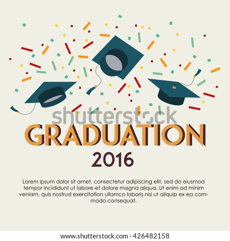 graduation vector template copy space for text graduation party congrats celebrate - Graduation Party