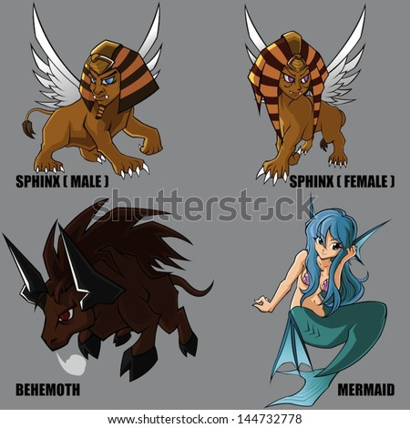 African Mythology Creatures Trolls - 0425