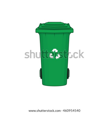 green recycle garbage