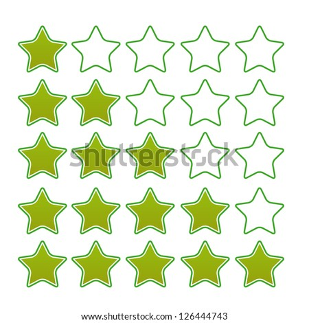 Green stars ratings web button