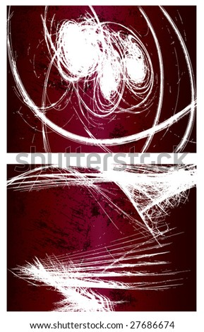 2 grunge vector backgrounds. Set 1 - stock vector